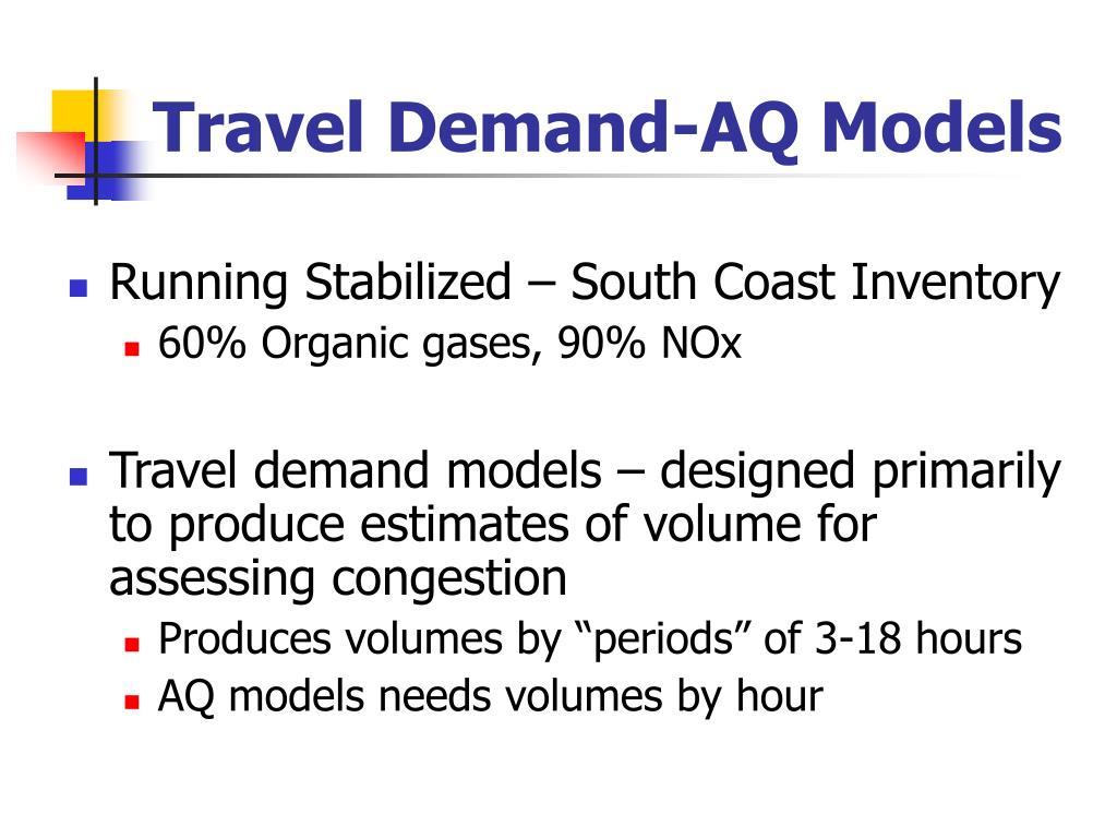 Travel Demand-AQ Models