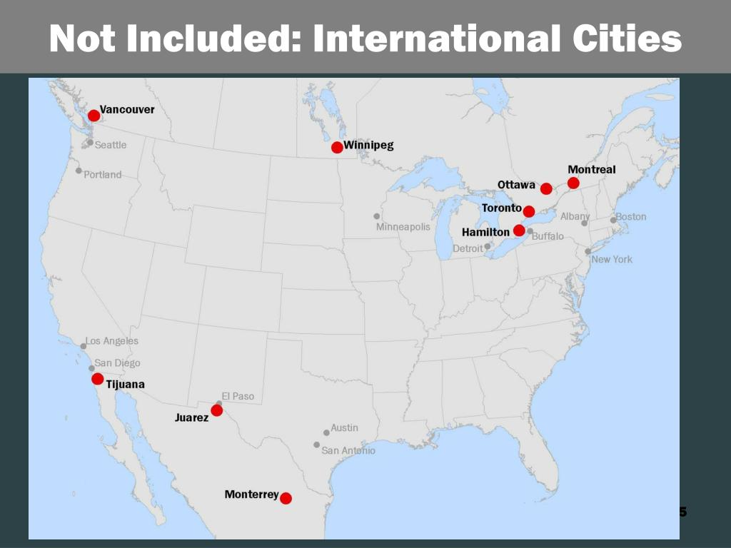 Not Included: International Cities