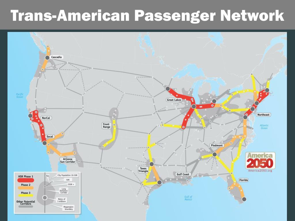 Trans-American Passenger Network