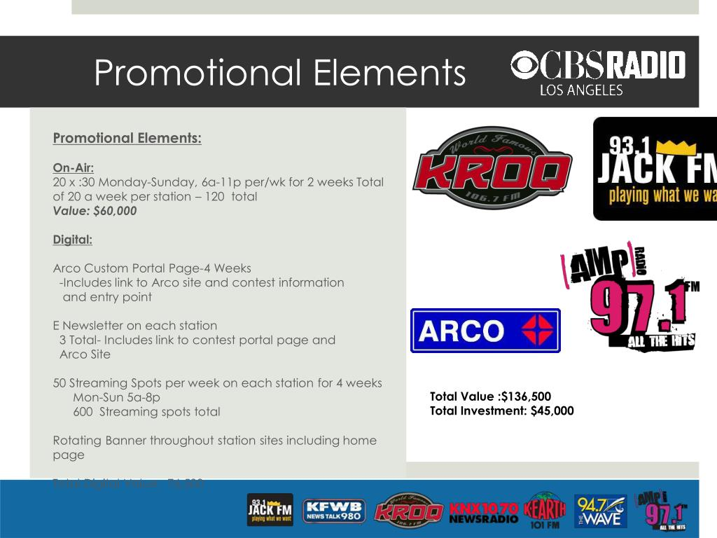 Promotional Elements