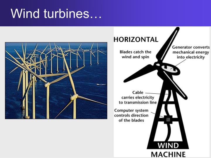 Wind turbines…