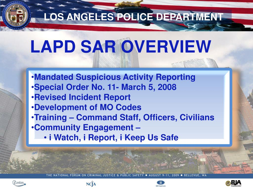 LAPD SAR OVERVIEW
