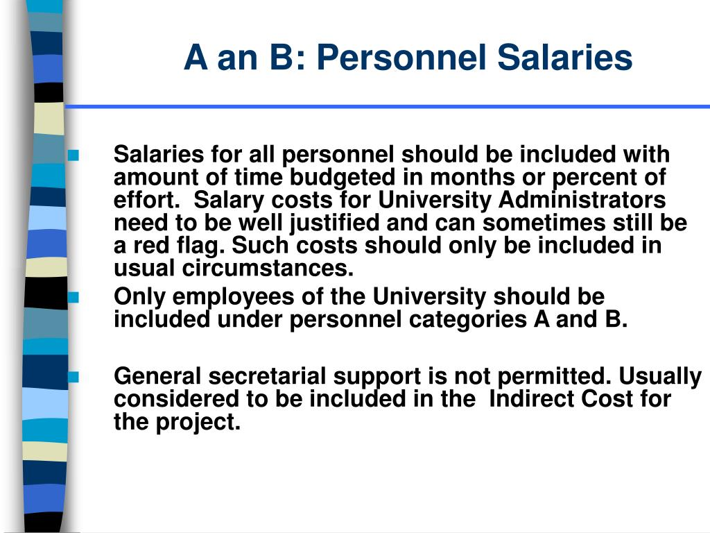A an B: Personnel Salaries
