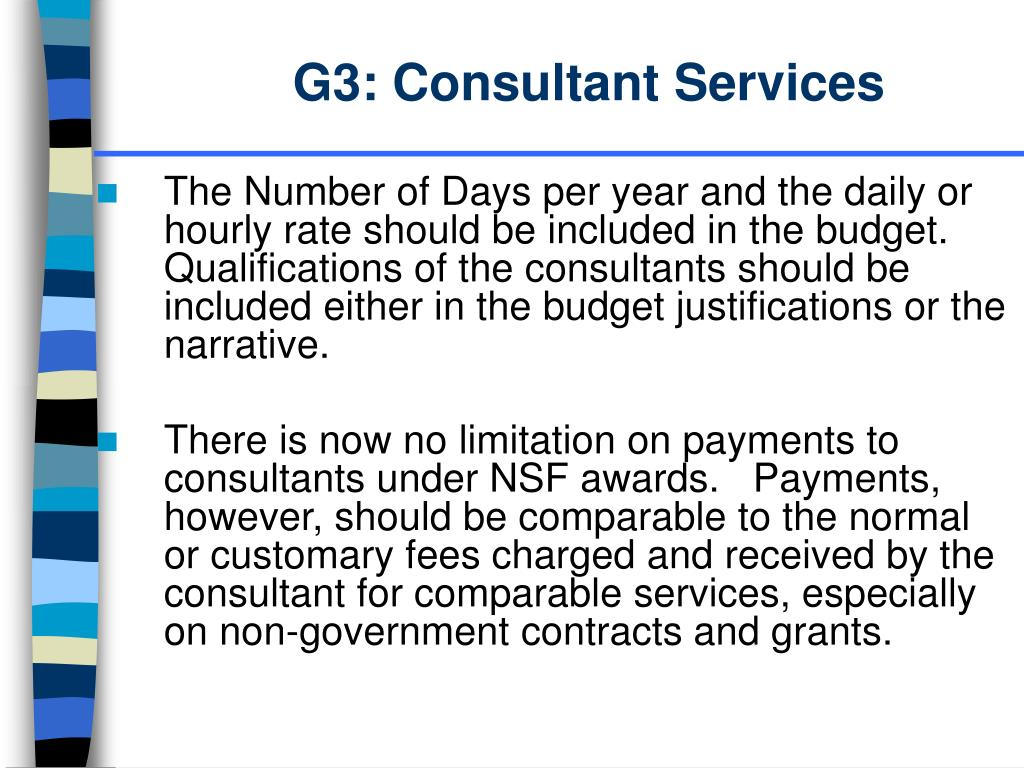 G3: Consultant Services