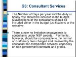 g3 consultant services