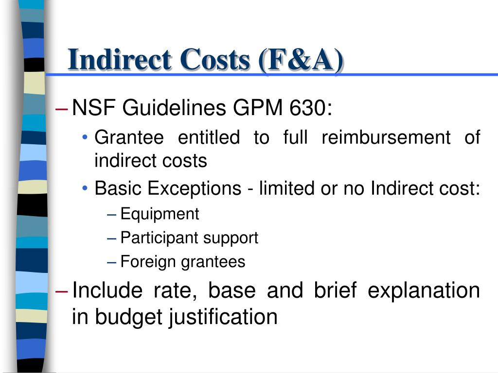 Indirect Costs (F&A)