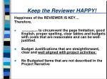keep the reviewer happy