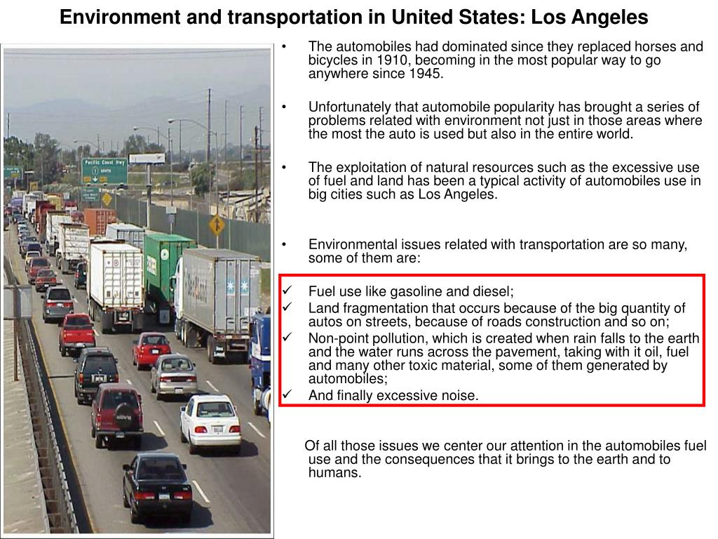 Environment and transportation in United States: Los Angeles