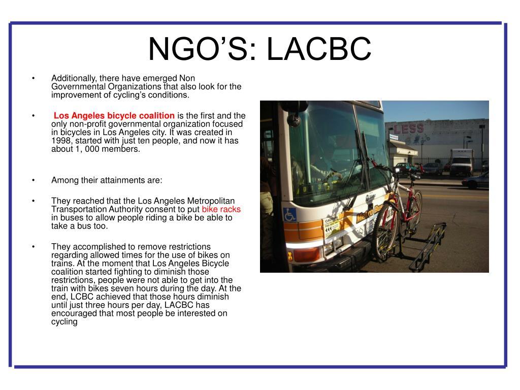 NGO'S: LACBC