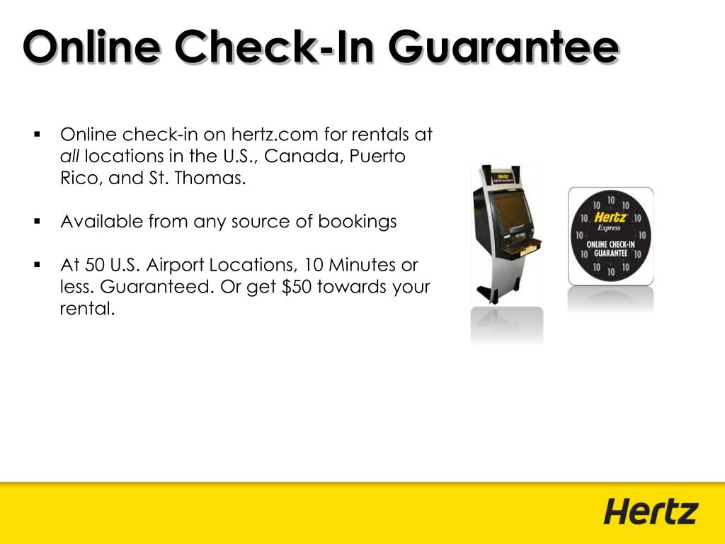 Online Check-In Guarantee