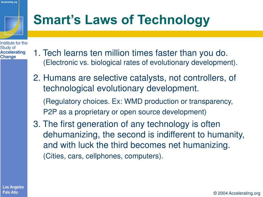Smart's Laws of Technology