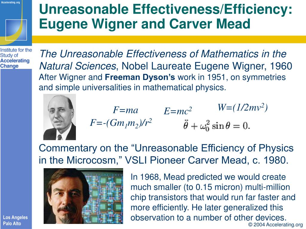 Unreasonable Effectiveness/Efficiency: