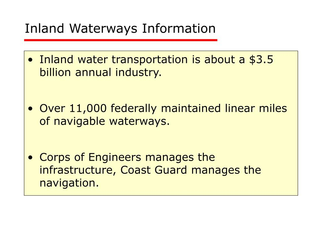 Inland Waterways Information