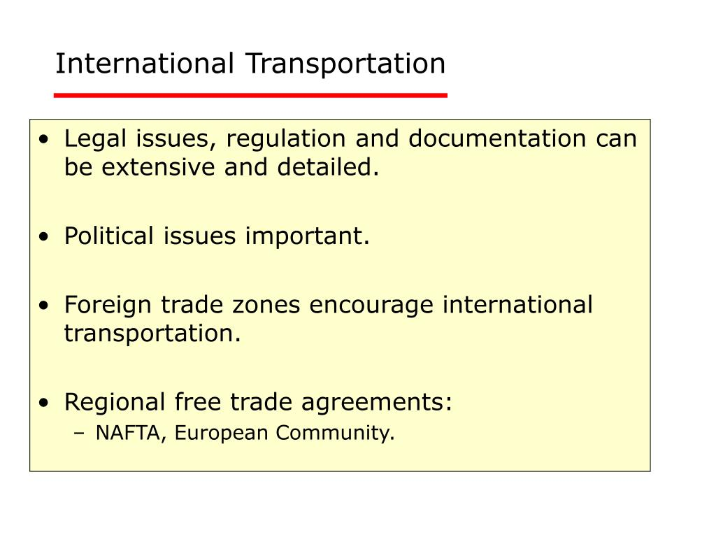 International Transportation