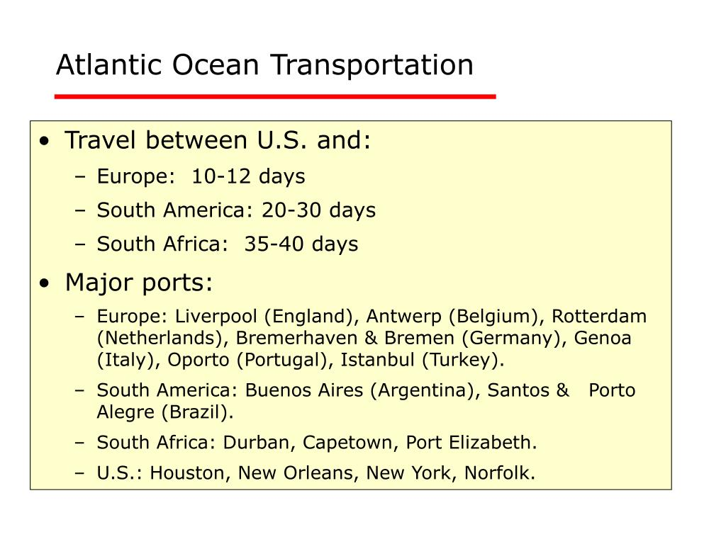 Atlantic Ocean Transportation