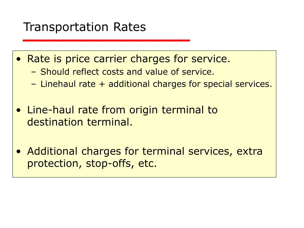 Transportation Rates