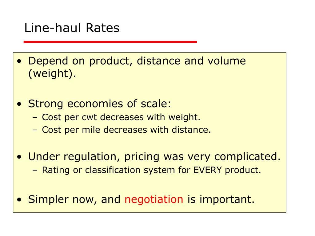 Line-haul Rates