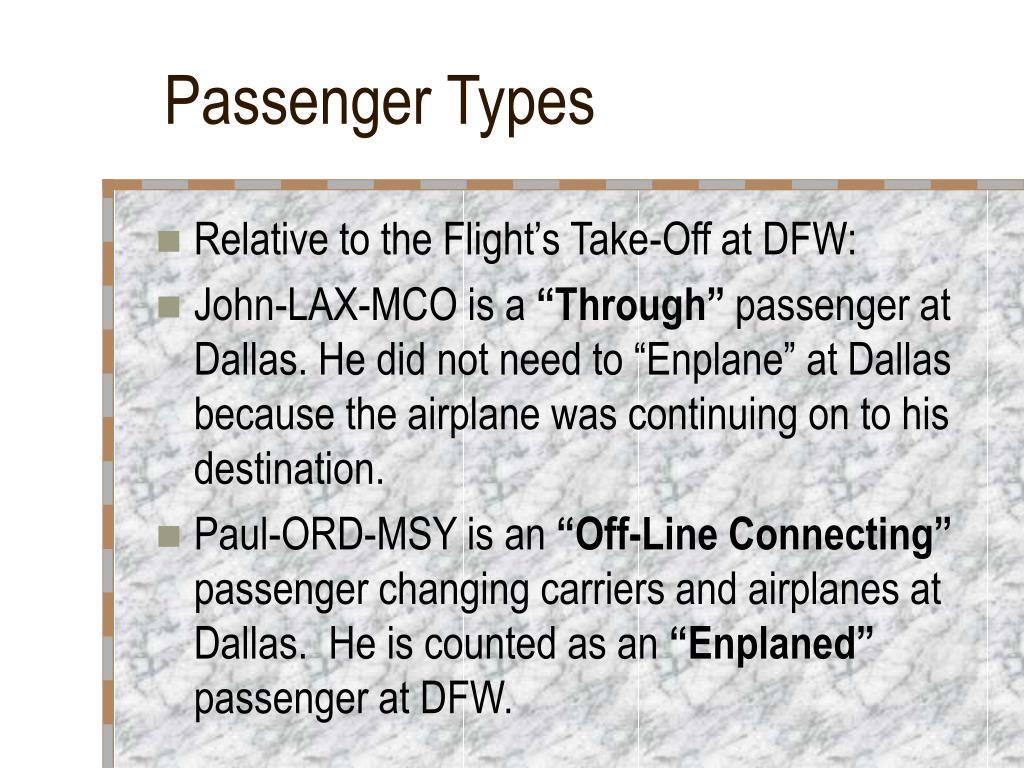 Passenger Types