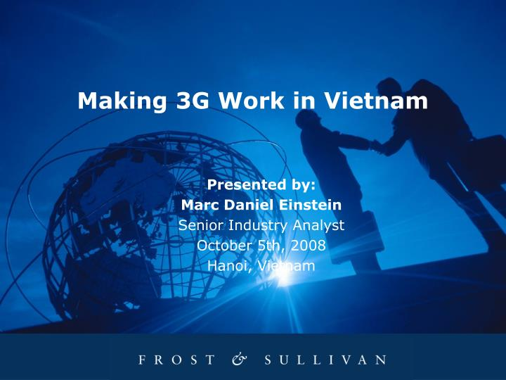 Making 3G Work in Vietnam