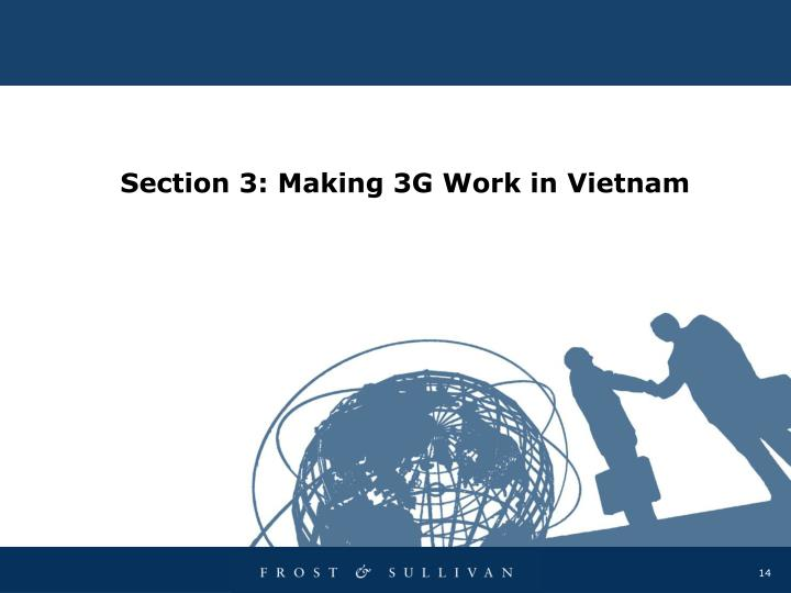 Section 3: Making 3G Work in Vietnam