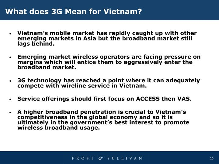 What does 3G Mean for Vietnam?