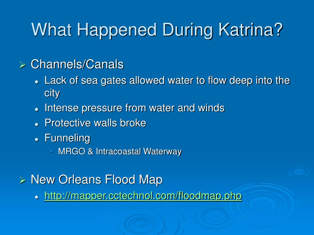 What Happened During Katrina?