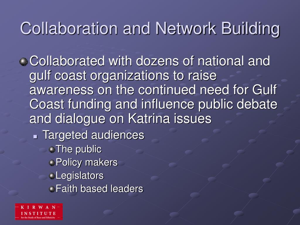 Collaboration and Network Building