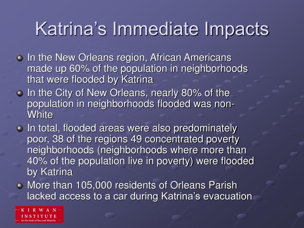 Katrina's Immediate Impacts