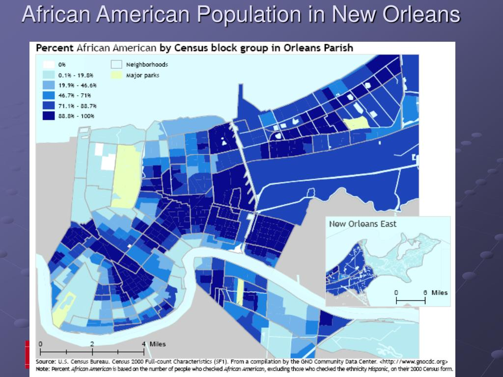 African American Population in New Orleans