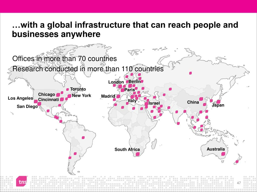 …with a global infrastructure that can reach people and businesses anywhere