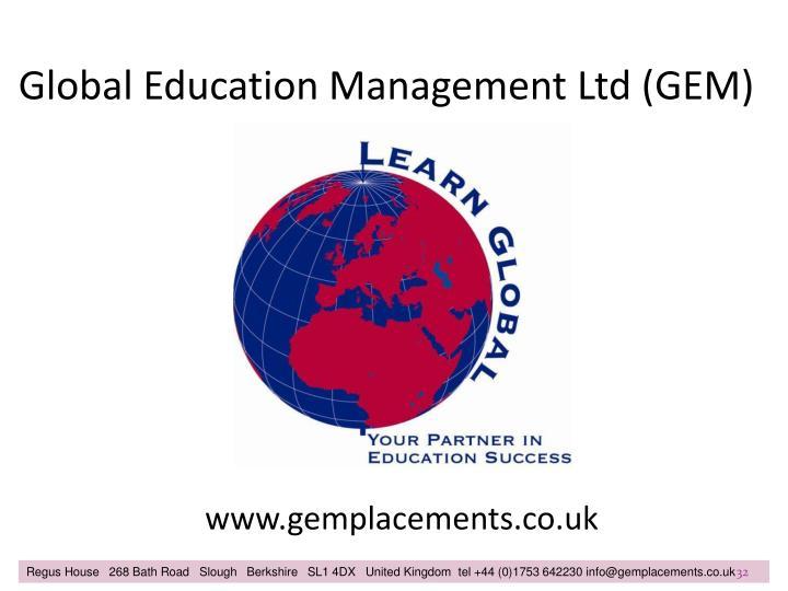 Global Education Management Ltd (GEM)