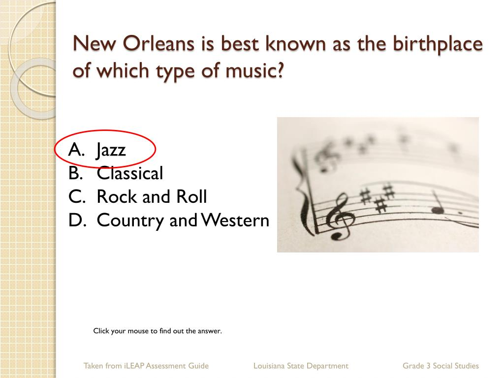 New Orleans is best known as the birthplace of which type of music?