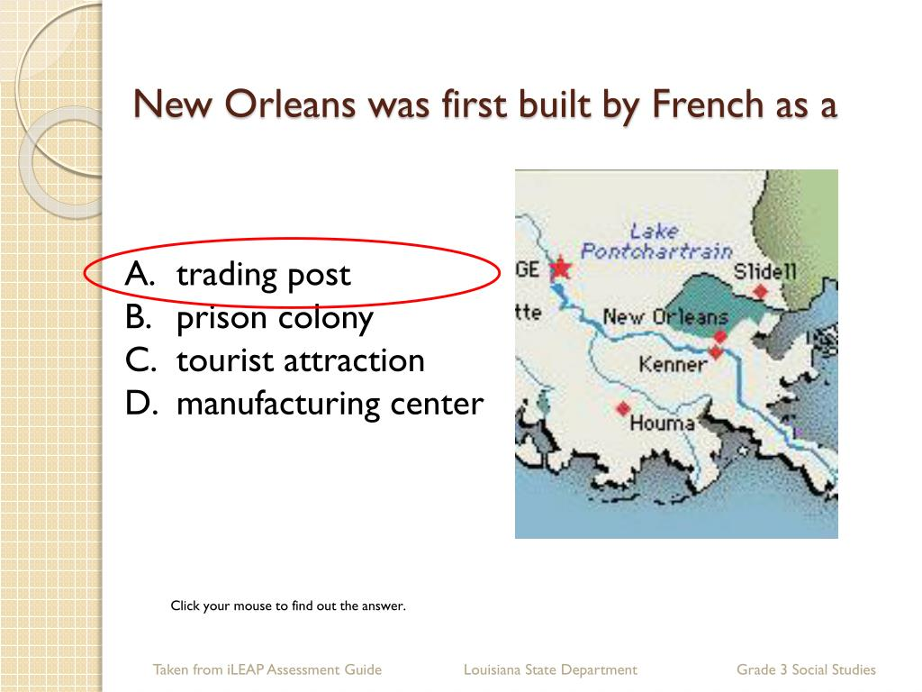 New Orleans was first built by French as a