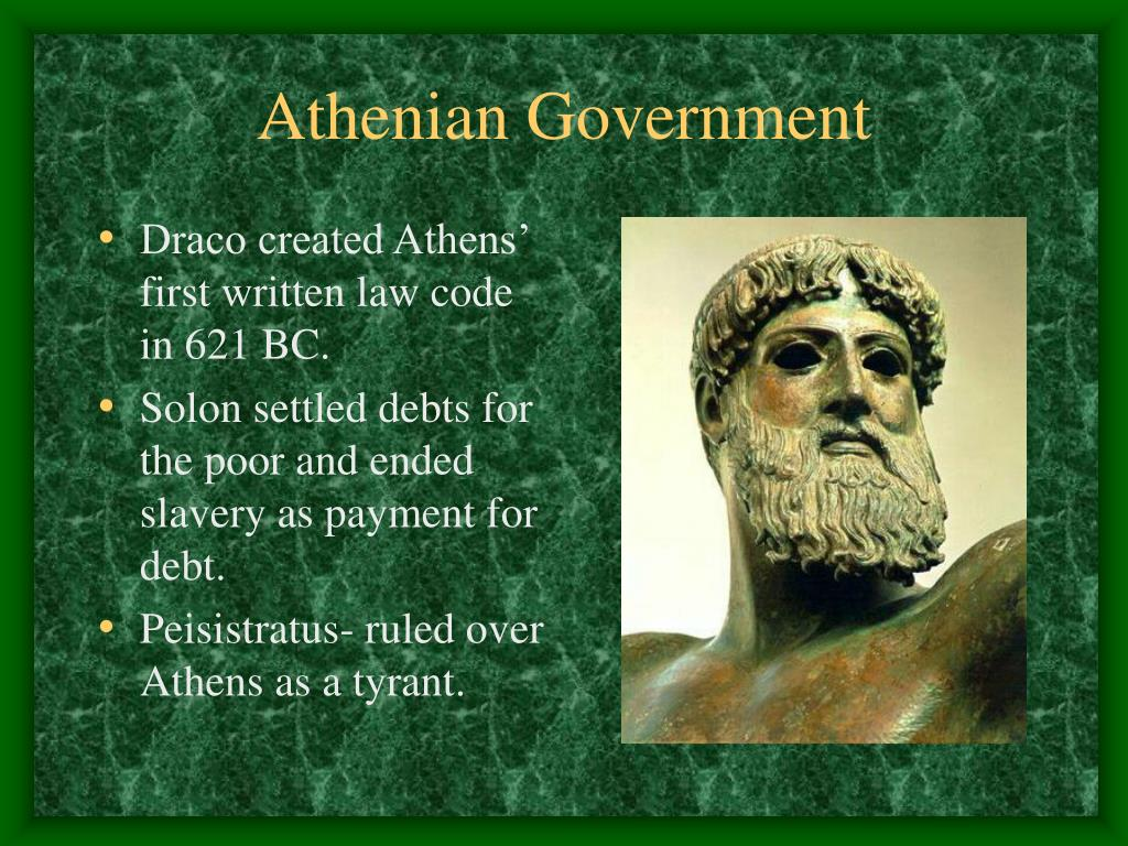 Draco created Athens' first written law code in 621 BC.