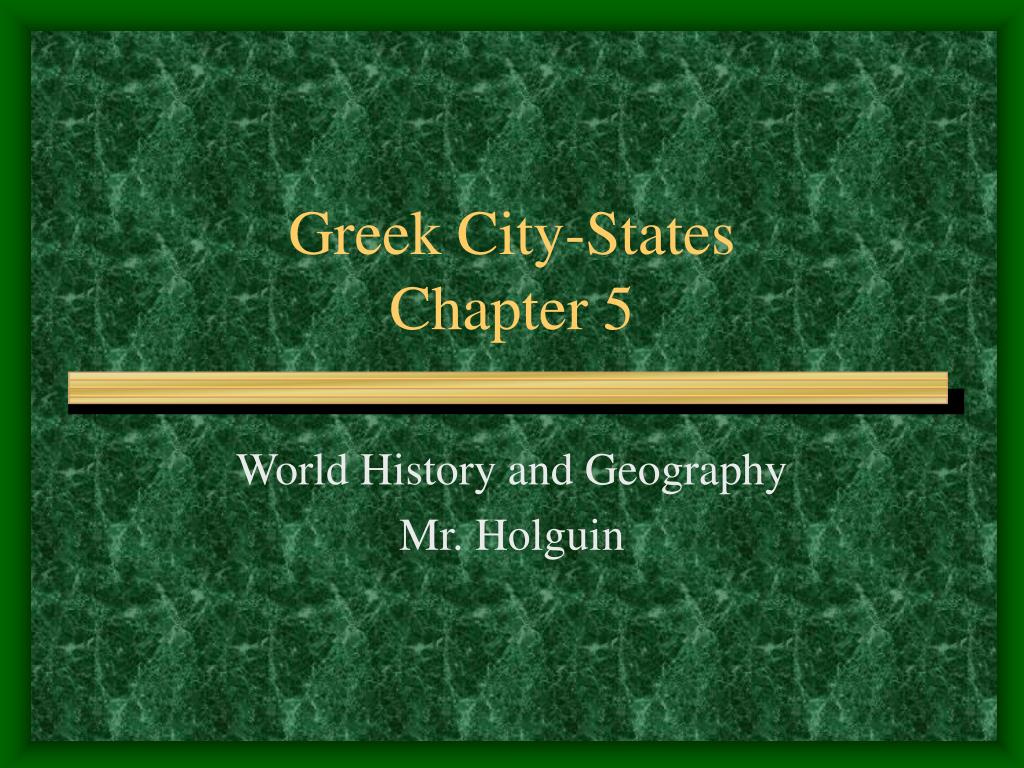 greek city states chapter 5