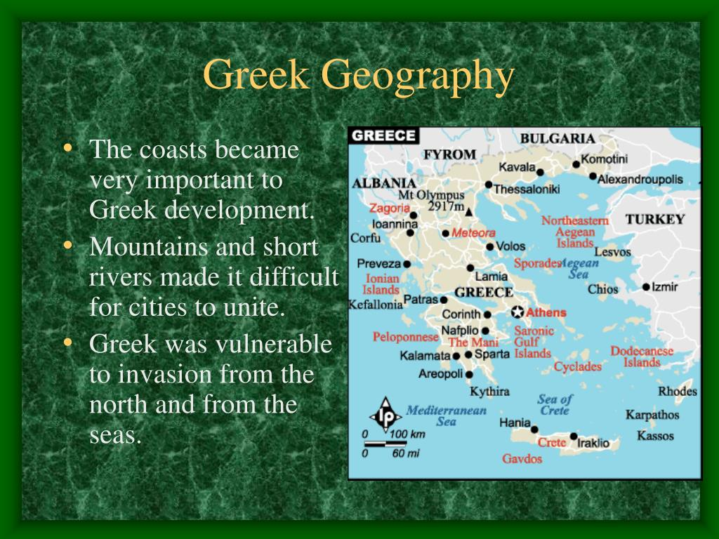 The coasts became very important to Greek development.