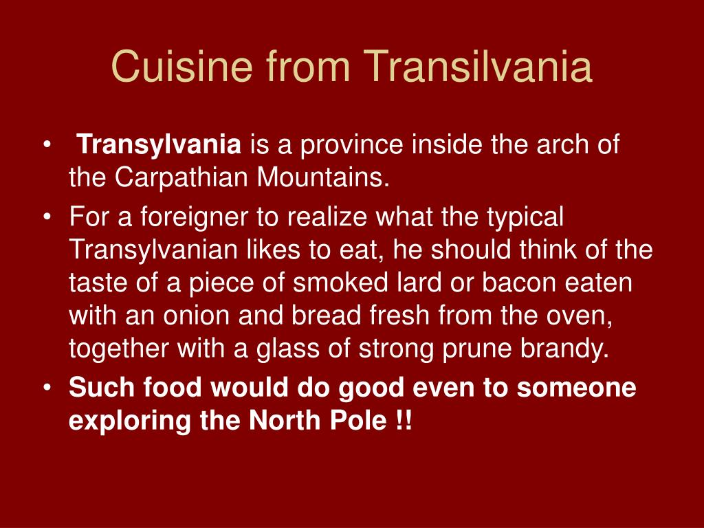 Cuisine from Transilvania