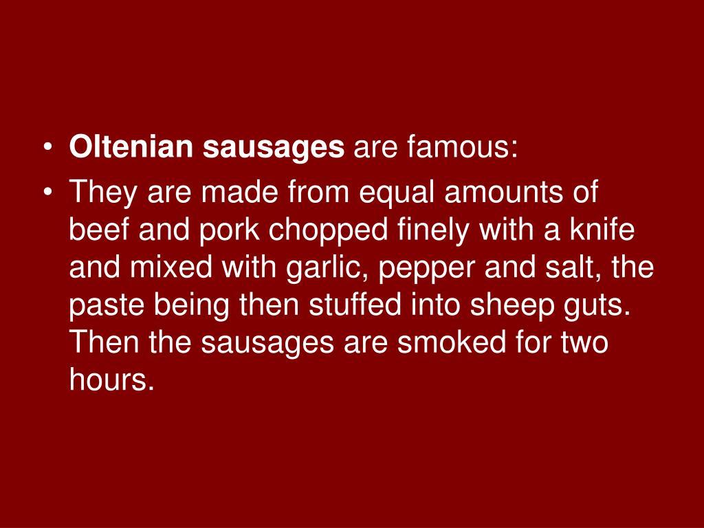 Oltenian sausages