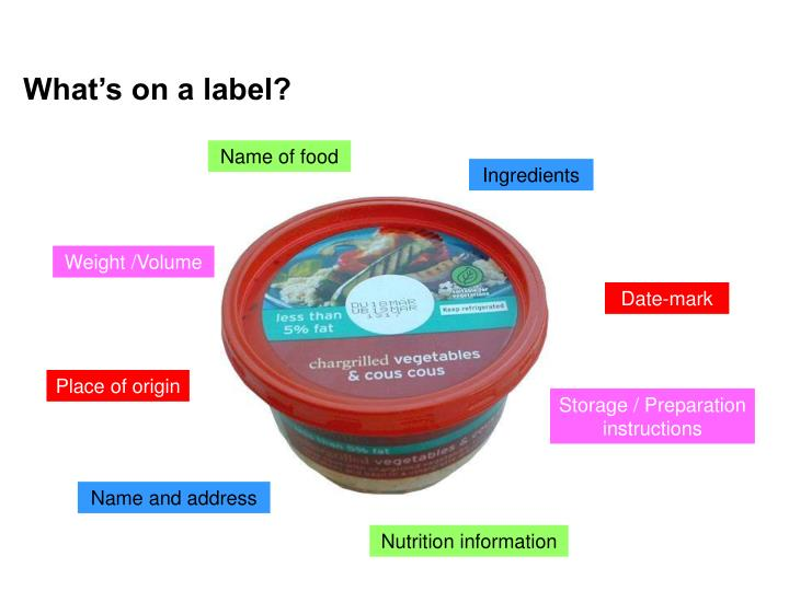 What's on a label?