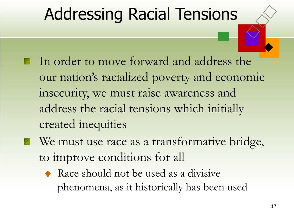 Addressing Racial Tensions