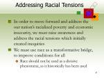 addressing racial tensions