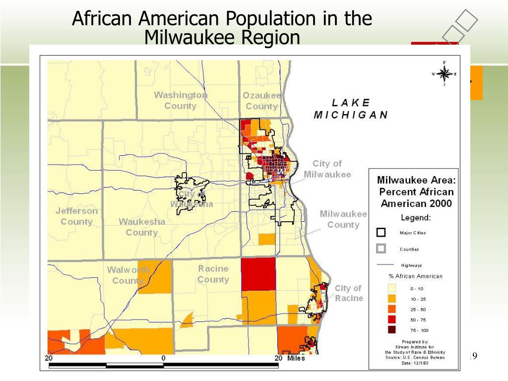 African American Population in the Milwaukee Region