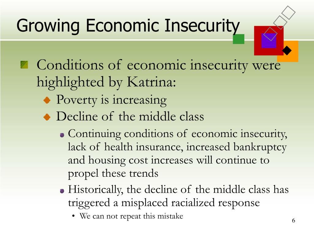 Growing Economic Insecurity