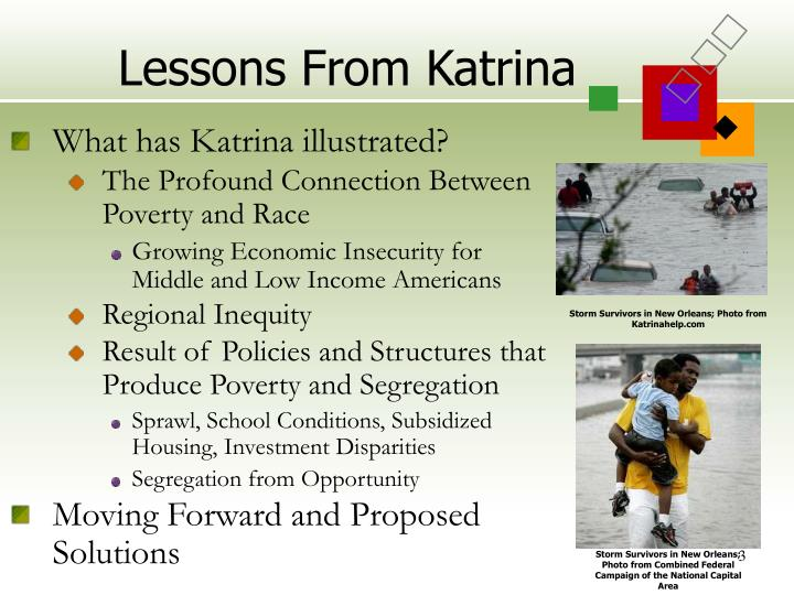 Lessons from katrina