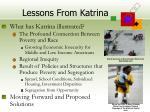 lessons from katrina
