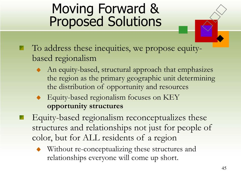 Moving Forward & Proposed Solutions