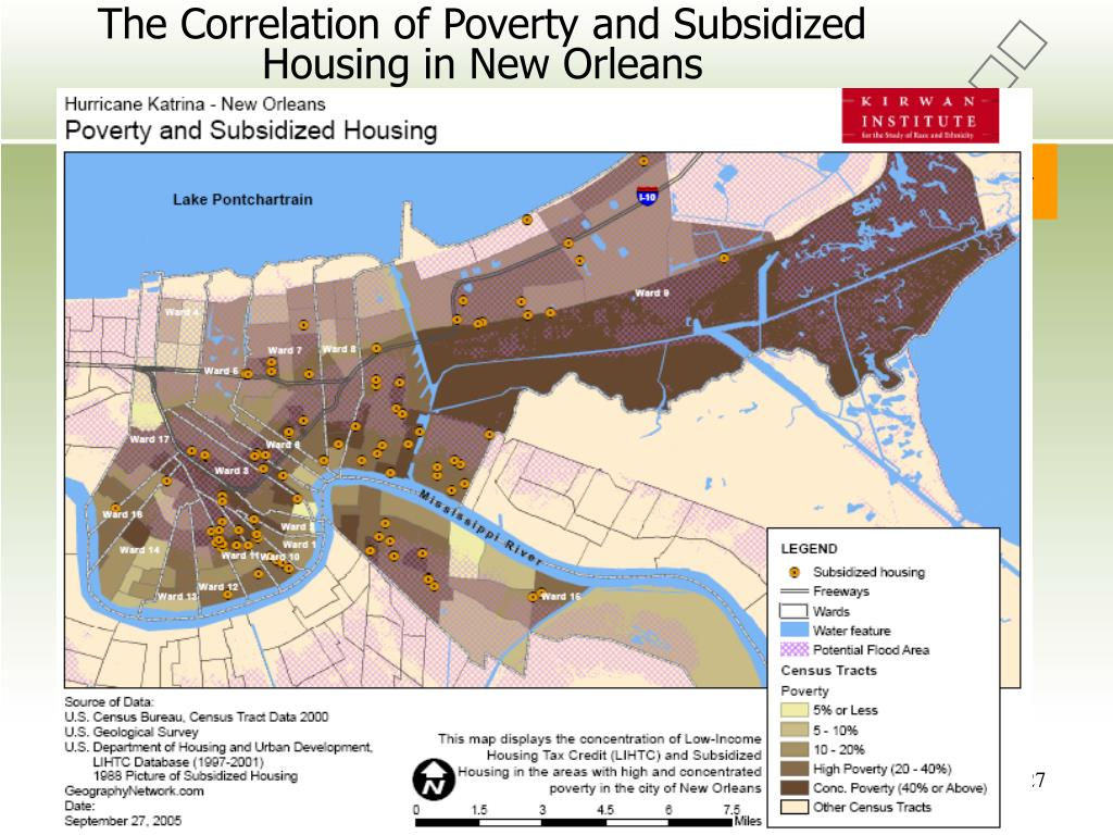 The Correlation of Poverty and Subsidized