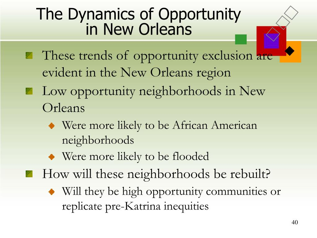 The Dynamics of Opportunity in New Orleans