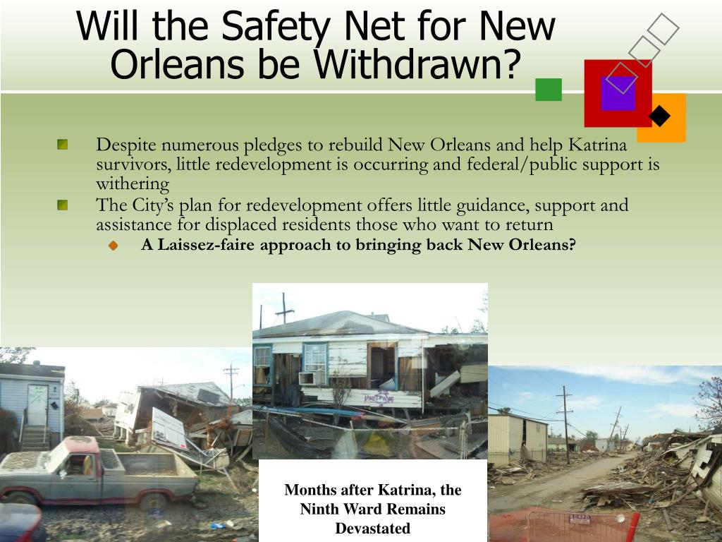Will the Safety Net for New Orleans be Withdrawn?