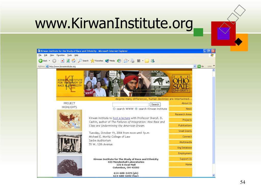 www.KirwanInstitute.org